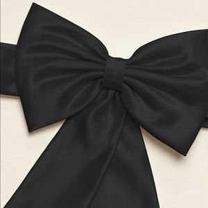 Black flower girl sash with bow